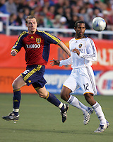 Kenny Deuchar and Troy Roberts in the Los Angeles Galaxy @ Real Salt Lake 2-2 draw at Rice Eccles Stadium in Salt Lake City, Utah on  May 3, 2008