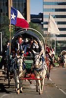trail riders passing through Houston. Houston Texas United States.