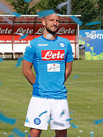 SSC Napoli' players Dries Mertens  <br />  wears a new home jersey during a preseason training camp in Dimaro Italy 11 jul 2017 Photo: Ciro De Luca SilverHub  +39 02 43998577 sales@silverhubmedia.it