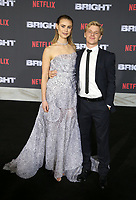 WESTWOOD, CA - DECEMBER 13: Lucy Fry, Daniel Webber, at Premiere Of Netflix's 'Bright' at The Regency Village Theatre, In Hollywood, California on December 13, 2017. Credit: Faye Sadou/MediaPunch /NortePhoto.com NORTEPHOTOMEXICO