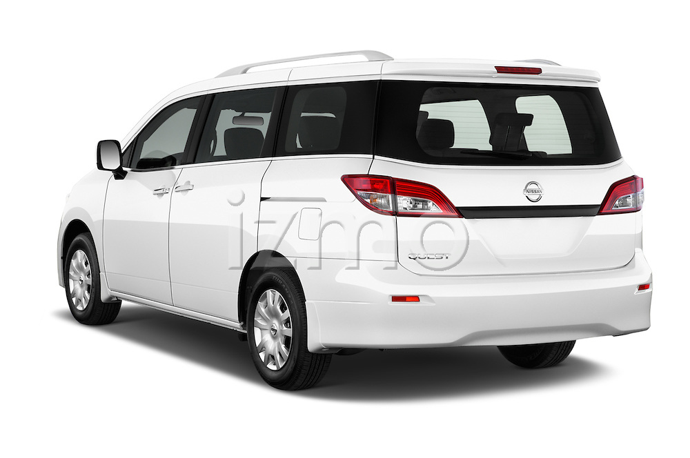 Car pictures of rear three quarter view of a 2015 Nissan Quest s 5 Door Mini Van angular rear