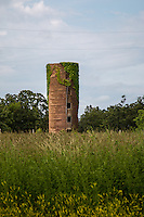 An old grain silo along Route 66 near Phillipsburg Missouri.