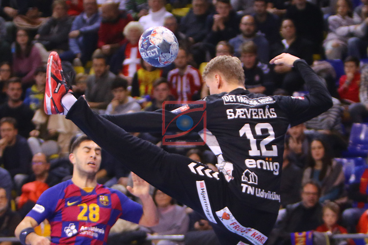 VELUX EHF 2019/20 EHF Men's Champions League Group Phase - Round 8.<br /> FC Barcelona vs Aalborg Handbold: 44-35.<br /> Kristian Saeveraas.