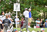 Bethesda, MD - June 26, 2016: Vijay Singh (FIJ) tees off on hole seventeen during Final Round of play at the Quicken Loans National Tournament at the Congressional Country Club in Bethesda, MD, June 26, 2016. (Photo by Philip Peters/Media Images International)
