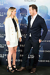 "Americans actress Jennifer Lawrence and actor Chris Pratt attends to the presentation of the american film ""Passengers"" at Hotel Villa Magna in Madrid, Spain. November 30, 2016. (ALTERPHOTOS/BorjaB.Hojas)"