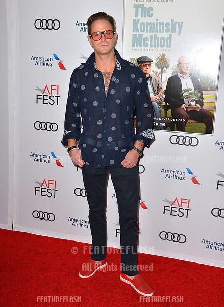 """LOS ANGELES, CA. November 10, 2018: Cameron Douglas at the AFI Fest 2018 world premiere of """"The Kominsky Method"""" at the TCL Chinese Theatre.<br /> Picture: Paul Smith/Featureflash"""
