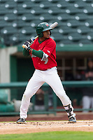 Fort Wayne TinCaps Xavier Edwards (9) at bat during a Midwest League game against the Fort Wayne TinCaps at Parkview Field on April 30, 2019 in Fort Wayne, Indiana. Kane County defeated Fort Wayne 7-4. (Zachary Lucy/Four Seam Images)