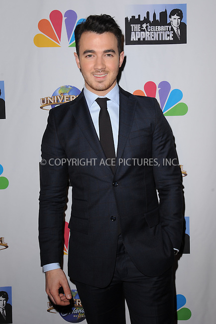 WWW.ACEPIXS.COM<br /> February 16, 2015 New York City<br /> <br /> Kevin Jonas arriving to the Celebrity Apprentice Finale viewing party and post show red carpet on February 16, 2015 in New York City.<br /> <br /> Please byline: Kristin Callahan/AcePictures<br /> <br /> ACEPIXS.COM<br /> <br /> Tel: (646) 769 0430<br /> e-mail: info@acepixs.com<br /> web: http://www.acepixs.com