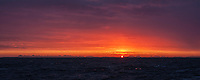 Colorful winter sunrise over Vestfjord, Lofoten Islands, Norway