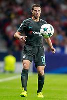 Chelsea FC's Cesar Azpilicueta during Champions League 2017/2018, Group C, match 2. September 27,2017. (ALTERPHOTOS/Acero)<br /> Champions League 2017/2018 <br /> Atletico Madrid - Chelsea <br /> Foto Alterphotos / Insidefoto