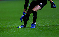 West Bromwich Albion's Sam Johnstone picks up a tennis ball that was thrown onto the pitch<br /> <br /> Photographer Alex Dodd/CameraSport<br /> <br /> The EFL Sky Bet Championship - Bolton Wanderers v West Bromwich Albion - Monday 21st January 2019 - University of Bolton Stadium - Bolton<br /> <br /> World Copyright © 2019 CameraSport. All rights reserved. 43 Linden Ave. Countesthorpe. Leicester. England. LE8 5PG - Tel: +44 (0) 116 277 4147 - admin@camerasport.com - www.camerasport.com