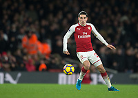 Héctor Bellerín of Arsenal in action during the Premier League match between Arsenal and Newcastle United at the Emirates Stadium, London, England on 16 December 2017. Photo by Vince  Mignott / PRiME Media Images.