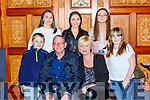 Mike Fears Gneeveguilla celebrated his 50th birthday with his family in the Killarney Avenue Hotel on Saturday night front row l-r: Ryan, Mike, Marie and Ellie Fears Back row: KAylee, Lauren and Shauna Fears