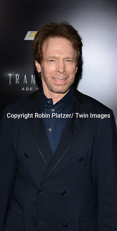 "Jerry Bruckheimer attends the US Premiere of ""Transformers: Age of Extinction"" on June 25, 2014 at The Ziegfeld Theatre in New York City, New York, USA."