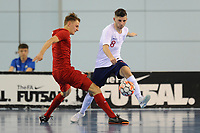 Liam Palfreeman of England plays the ball during England vs Poland, International Futsal Friendly at St George's Park on 2nd June 2018