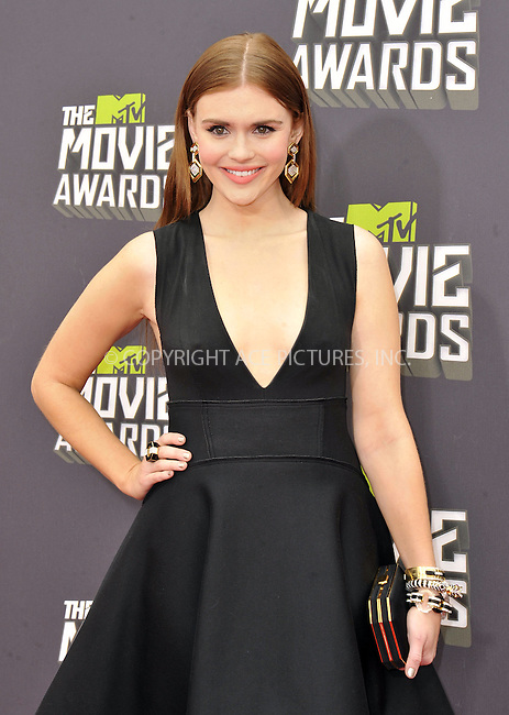 WWW.ACEPIXS.COM....April 14, 2013, Los Angeles, Ca.......Holland Roden arriving at the 2013 MTV Movie Awards at Sony Pictures Studios on April 14, 2013 in Culver City, California.......By Line: Peter West/ACE Pictures....ACE Pictures, Inc..Tel: 646 769 0430..Email: info@acepixs.com