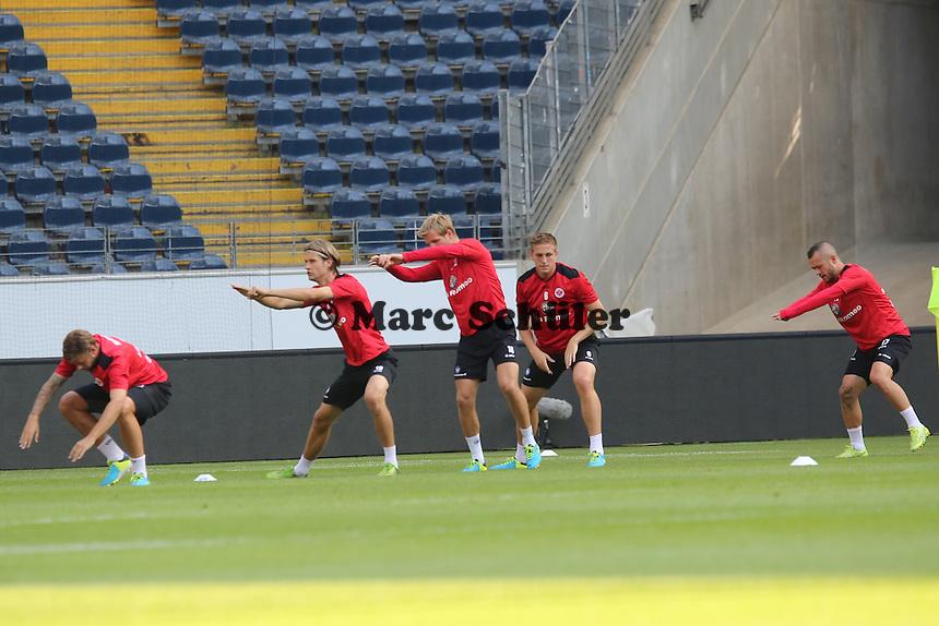Martin Lanig, Jan Roselthal, Bastian Oczipka (Eintracht)