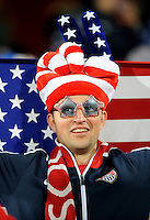 USA fan. Ghana defeated the USA 2-1 in overtime in the 2010 FIFA World Cup at Royal Bafokeng Stadium in Rustenburg, South Africa on June 26, 2010.