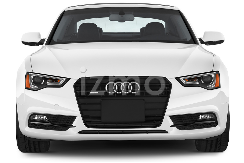 Car photography straight front view of a 2014 Audi A5 Premium Quattro 2 Door Coupe