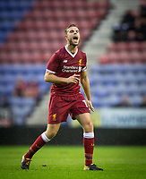 Jordan Henderson of Liverpool during the pre season friendly match between Wigan Athletic and Liverpool at the DW Stadium, Wigan, England on 14 July 2017. Photo by Andy Rowland.