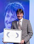 AMERSFOORT - Robert-Jan Derksen ontvangt de NVG Award . Nationaal Golf Congres & Beurs (Het Juiste Spoor) van de NVG.     © Koen Suyk.