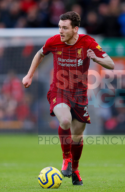 Andrew Robertson of Liverpool during the Premier League match at Anfield, Liverpool. Picture date: 1st February 2020. Picture credit should read: James Wilson/Sportimage
