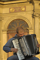 Poland, Krakow, Accordian player
