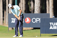 Nicolas Colsaerts (BEL) putts on the 3rd green during Saturday's Round 3 of the 2018 Turkish Airlines Open hosted by Regnum Carya Golf &amp; Spa Resort, Antalya, Turkey. 3rd November 2018.<br /> Picture: Eoin Clarke | Golffile<br /> <br /> <br /> All photos usage must carry mandatory copyright credit (&copy; Golffile | Eoin Clarke)