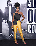 Teyonah Parris  attends The Universal Pictures' STRAIGHT OUTTA COMPTON World Premiere held at The Microsoft Theatre  in Los Angeles, California on August 10,2015                                                                               © 2015 Hollywood Press Agency