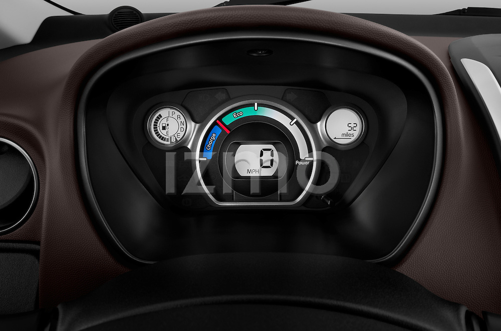 Electric car instrument panel on a 2012 Mitsubishi MiEV SE