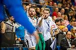 Milos Putera (SC DHfK Leipzig #C2) ; li: Alen Milosevic (SC DHfK Leipzig #34) beim Spiel in der Handball Bundesliga, TVB 1898 Stuttgart - SC DHfK Leipzig.<br /> <br /> Foto © PIX-Sportfotos *** Foto ist honorarpflichtig! *** Auf Anfrage in hoeherer Qualitaet/Aufloesung. Belegexemplar erbeten. Veroeffentlichung ausschliesslich fuer journalistisch-publizistische Zwecke. For editorial use only.
