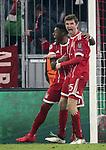 20.02.2018, Allianz Arena, München, GER, UEFA CL, FC Bayern München (GER) vs Besiktas Istanbul (TR) , im Bild<br />Thomas Müller (München) freut sich über das Tor zum 1:0<br /><br /><br /> Foto © nordphoto / Bratic