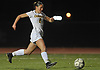 Allison Seidman #2 of Commack scores a goal with a kick in the 38th minute of Game 1 of two Long Island varsity girls soccer senior all-star games at Farmingdale State College on Friday, Nov. 24, 2017.