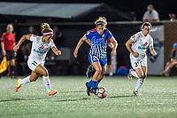 Boston, MA - Friday August 04, 2017: Desiree Scott, Angela Salem and Christina Gibbons during a regular season National Women's Soccer League (NWSL) match between the Boston Breakers and FC Kansas City at Jordan Field.