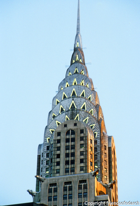 New York: Chrysler Building at dusk. Photo '91.