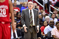 Washington, DC - August 12, 2018: Washington Mystics head coach Mike Thibault on the sidelines during game between the Washington Mystics and the Dallas Wings at the Capital One Arena in Washington, DC. (Photo by Phil Peters/Media Images International)
