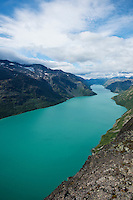 Lake Gjende viewed from Besseggen ridge, Jotunheimen national park, Norway
