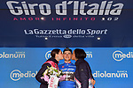 Giulio Ciccone (ITA) Trek-Segafredo retains the mountains Maglia Azzurra at the end of Stage 17 of the 2019 Giro d'Italia, running 181km from Commezzadura (Val di Sole) to Anterselva / Antholz, Italy. 29th May 2019<br /> Picture: Massimo Paolone/LaPresse | Cyclefile<br /> <br /> All photos usage must carry mandatory copyright credit (© Cyclefile | Massimo Paolone/LaPresse)