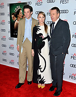"""LOS ANGELES, USA. November 17, 2019: Josh O'Connor, Erin Doherty & Peter Morgan at the gala screening for """"The Crown"""" as part of the AFI Fest 2019 at the TCL Chinese Theatre.<br /> Picture: Paul Smith/Featureflash"""