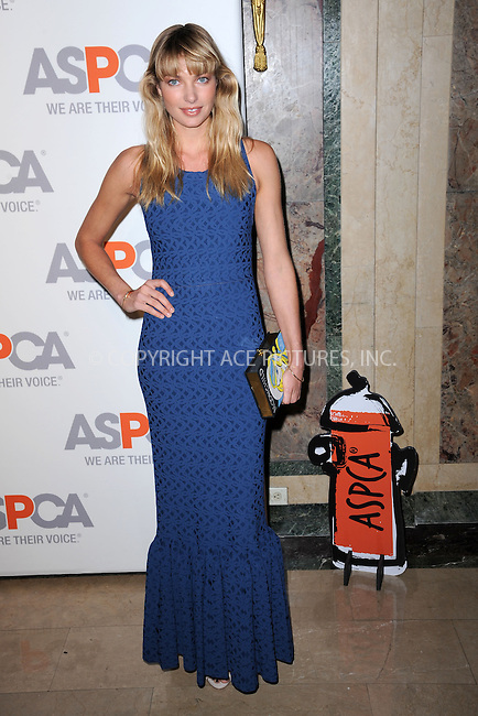 WWW.ACEPIXS.COM<br /> April 9, 2015 New York City<br /> <br /> Jessica Hart attending the 18th Annual ASPCA Bergh Ball at the Plaza Hotel on April 9, 2015 in New York City.<br /> <br /> Please byline: Kristin Callahan/AcePictures<br /> <br /> ACEPIXS.COM<br /> <br /> Tel: (646) 769 0430<br /> e-mail: info@acepixs.com<br /> web: http://www.acepixs.com