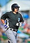 13 March 2010: Toronto Blue Jays' infielder Ryan Goins in action during a Spring Training game against the Atlanta Braves at Champion Stadium in the ESPN Wide World of Sports Complex in Orlando, Florida. The Blue Jays shut out the Braves 3-0 in Grapefruit League action. Mandatory Credit: Ed Wolfstein Photo
