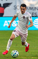 WASHINGTON, DC - MARCH 07: Lewis Morgan #7 of Inter Miami on the attack during a game between Inter Miami CF and D.C. United at Audi Field on March 07, 2020 in Washington, DC.
