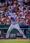 28 April 2017: New York Mets catcher Travis d'Arnaud in action against the Washington Nationals at Nationals Park in Washington, DC. The Mets defeated the Nationals 7-5 to take the first game of their 3-game weekend series. Mandatory Credit: Ed Wolfstein Photo *** RAW (NEF) Image File Available ***
