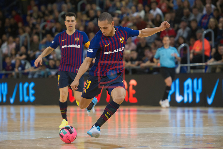 League LNFS 2018/2019 - Game 29.<br /> FC Barcelona Lassa vs Viña Albali Valdepeñas: 5-1.<br /> Ferrao.