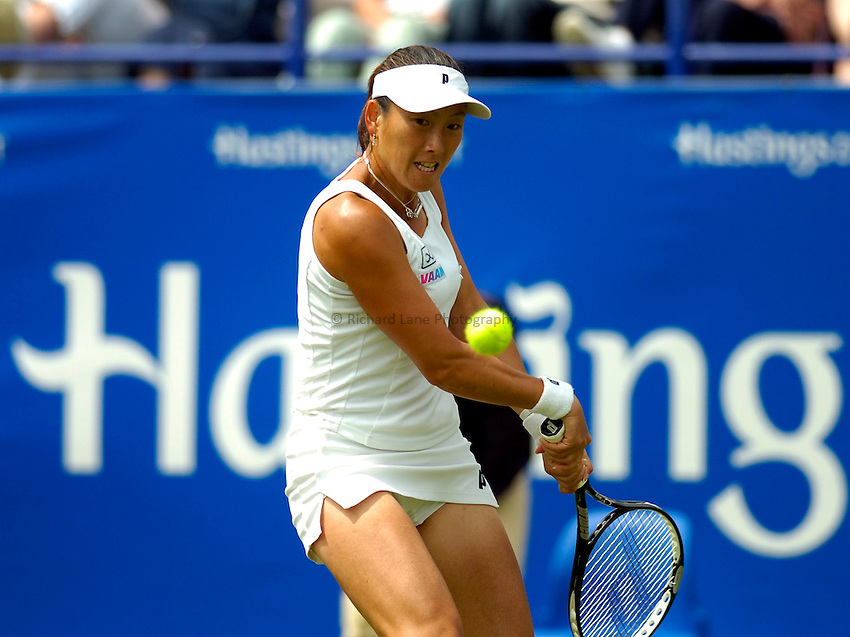 Photo: Alan Crowhurst..WTA The Hastings Direct International Championships, Eastbourne. 19/06/2006. Ai Sugiyama of Japan.