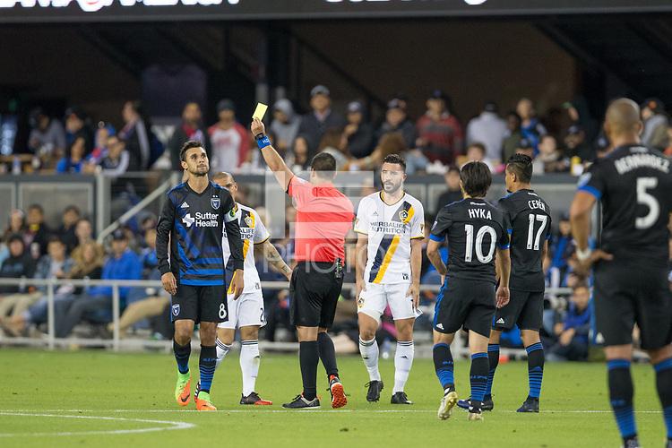 Santa Clara, CA - Saturday, May 27, 2017: Los Angeles Galaxy beat the San Jose Earthquakes 4-2 at the Avaya Stadium in Santa Clara.
