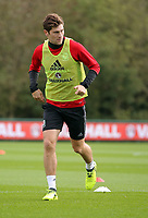 Pictured: Ben Davies. Monday 02 October 2017<br /> Re: Wales football training, ahead of their FIFA Word Cup 2018 qualifier against Georgia, Vale Resort, near Cardiff, Wales, UK.