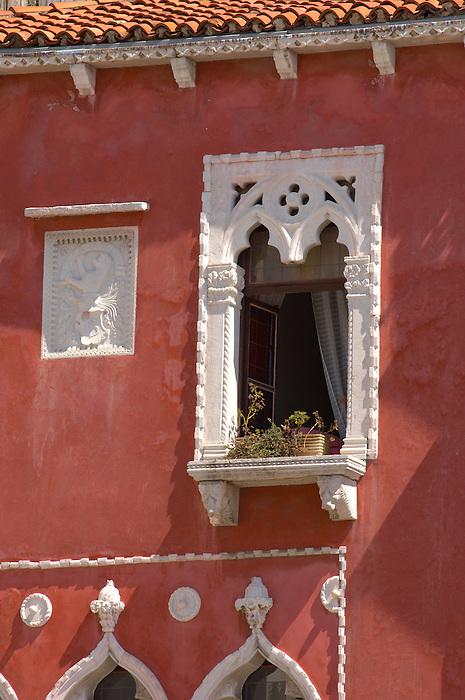 Window of a Venetican house . Piran , Slovenia