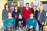 Kerry 1st year maths quiz at IT Tralee South campus on Friday Pictured Front l-r Isabelle Lynch (2nd) ,Aisling Harty (1st) and Timothy Grimes (3rd).Back l-r Joan Cleary,Shane Healy,Marie hand,Johnny Flaherty,Patrick Lyne,Kathleen Hayes,Mike Lynch and Mary Colgan.