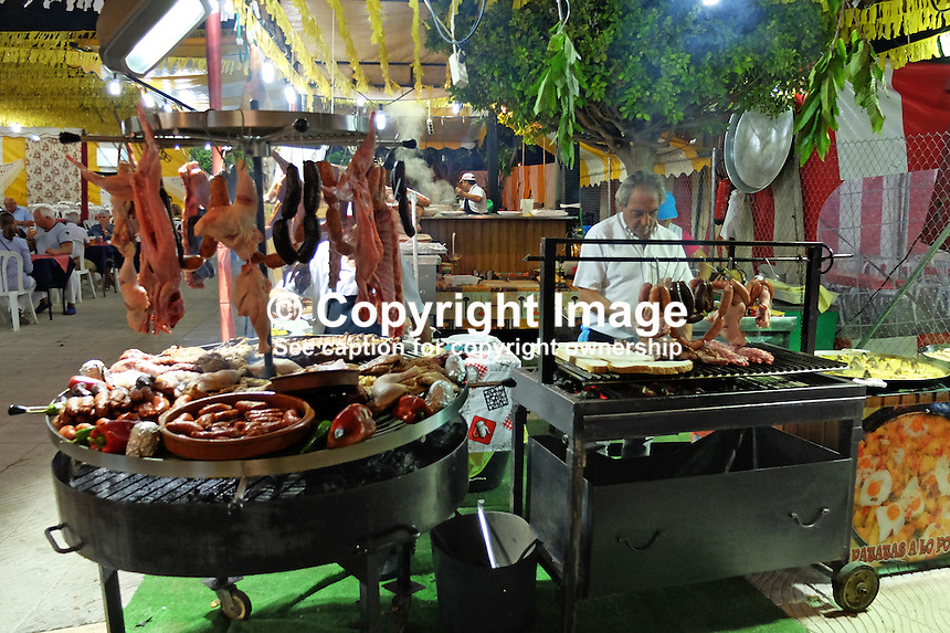 Food, glorious food! Available in infinite variety at annual fiesta in San POedro de Alcantara, Marbella, Spain, 15th October 2015. 201510151753<br />